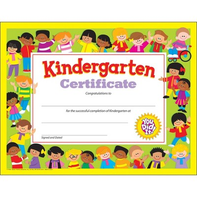 "Trend enterprises Inc Kindergarten Certificate 8-1/2""x11"" Multi 17008"