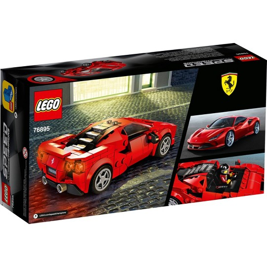 LEGO Speed Champions Ferrari F8 Tributo Toy Cars Building Kit 76895 image number null