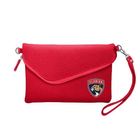 06e9220f80 NHL Florida Panthers Pebble Fold Over Crossbody Bag   Target