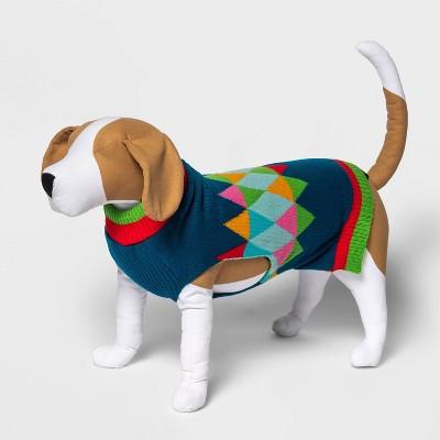 Geo Print Dog and Cat Sweater - Blue - Wondershop™