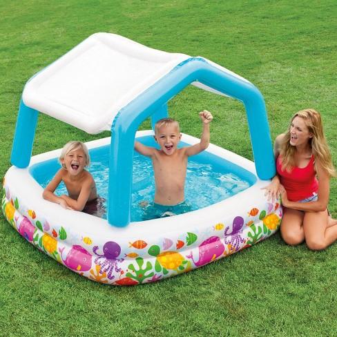Intex 57470Ep Inflatable Ocean Scene Sun Shade Kids Swimming Pool ...