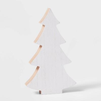 Thick Wood 4 Branch Christmas Tree Decorative Figurine - Wondershop™