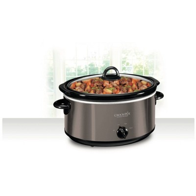 Crock Pot 6qt Manual Slow Cooker - Black/Stainless Steel