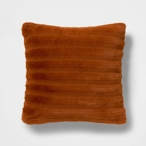 Square Channeled Faux Fur Throw Pillow Bronze - Project 62™ + Nate Berkus™ - image 1 of 4