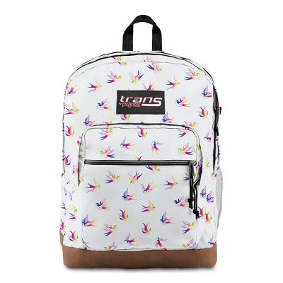 "Trans by JanSport 17"" Super Cool Backpack - Rainbow Birds"