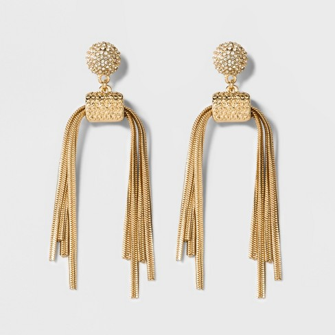SUGARFIX by BaubleBar Chain Link Tassel Drop Earrings - Gold - image 1 of 2