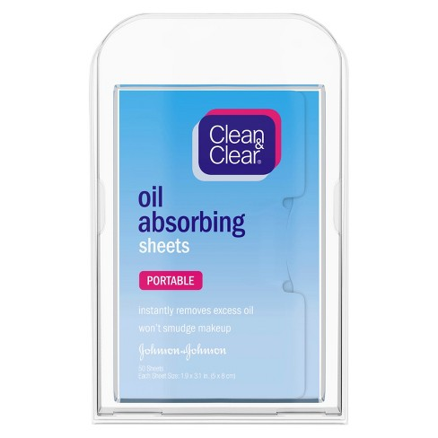 Unscented Clean & Clear Oil Absorbing Facial Blotting Sheets - 50ct - image 1 of 5