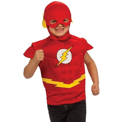 Rubie's The Flash Muscle Chest Child Costume Shirt w/ Headpiece