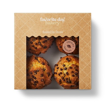 Chocolate Chip Muffins - 16oz/4ct  - Favorite Day™