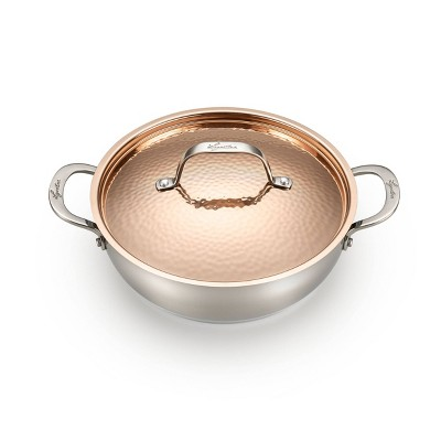 Lagostina Copper Elegance 4qt Everyday Pan with Lid