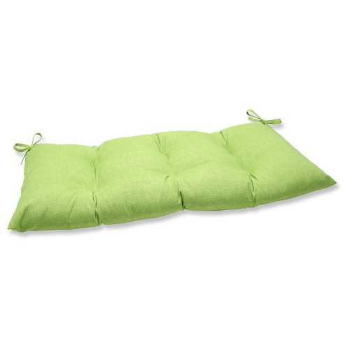 Outdoor Tufted Bench/Loveseat/Swing Cushion - Green