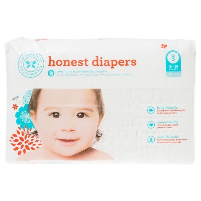 Honest Company Diapers White - Size 3 (34ct)
