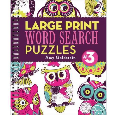 Large Print Word Search Puzzles 3 (Paperback) (Amy Goldstein) - image 1 of 1