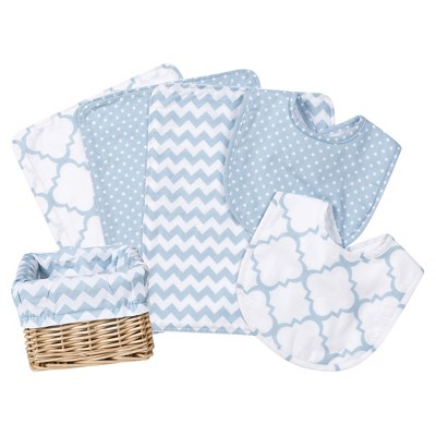 Trend Lab Feeding Basket Gift Set - Blue Sky 7pc