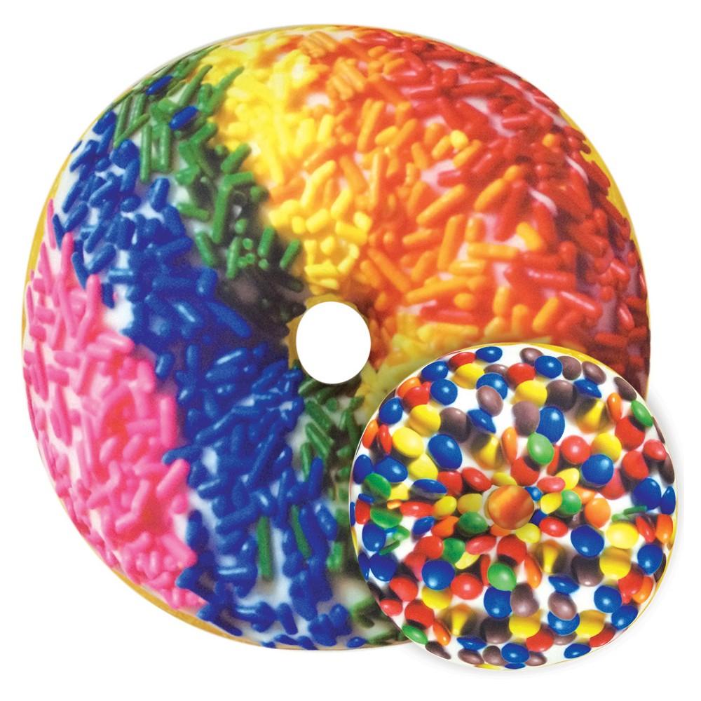 Image of Rainbow Sprinkles Donut Microbead Pillow