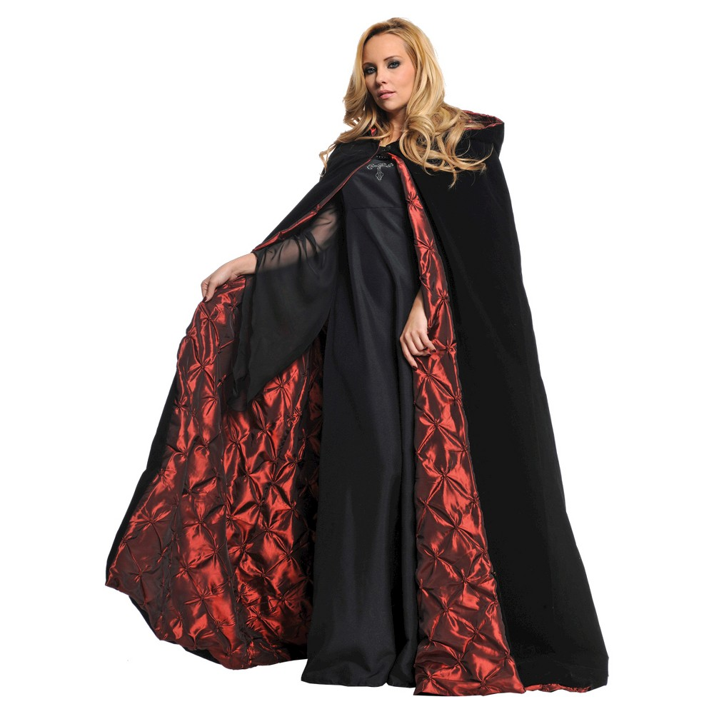 Deluxe Velvet Cape Black 63 - One Size Fits Most, Women's