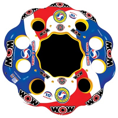 WOW Sports 13-2060 Tube A Rama 10-Person Floating Party Island River & Lake Raft
