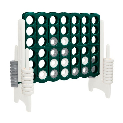 ECR4Kids Jumbo Four-To-Score Giant Game-Indoor/Outdoor 4-In-A-Row Connect - Green and White - image 1 of 4