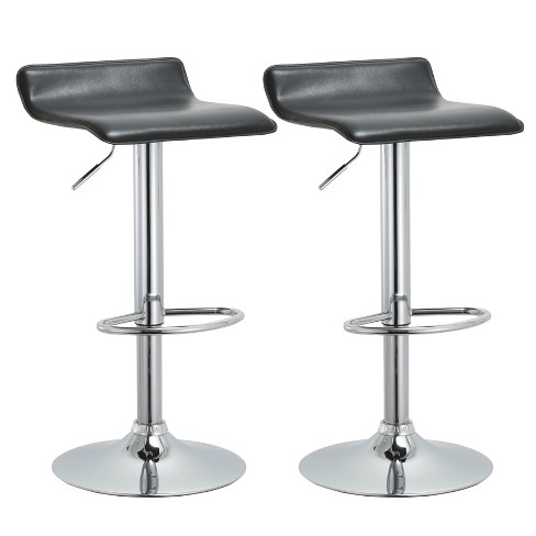 """Set of 2 34"""" Contemporary Swivel and Adjustable Barstools - AC Pacific - image 1 of 4"""