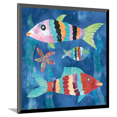 "Boho Reef Fish I Mounted Print 10""x11"" - Art.Com - image 1 of 2"