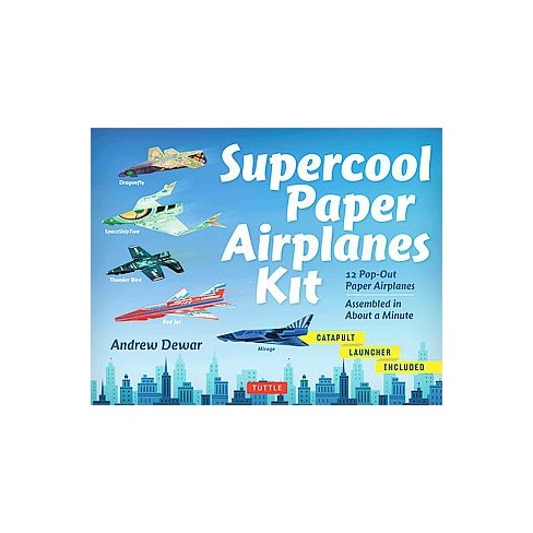 supercool paper airplanes kit mixed media product target