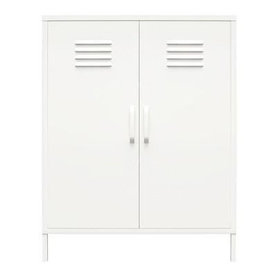 RealRooms Shadwick 2 Door Metal Locker Storage Cabinet