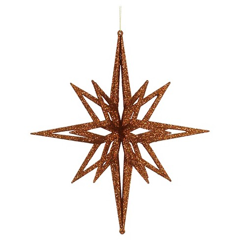 "16"" Copper 3D Glitter Star Christmas Ornament - image 1 of 1"