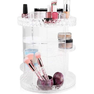 Glamlily 360 Degree Rotating Makeup Storage Shelf, Cosmetic Organizer (10.75 x 14 in)