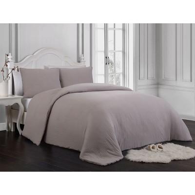 3pc Queen Gweneth Super Soft Comforter Set Taupe - Geneva Home Fashion