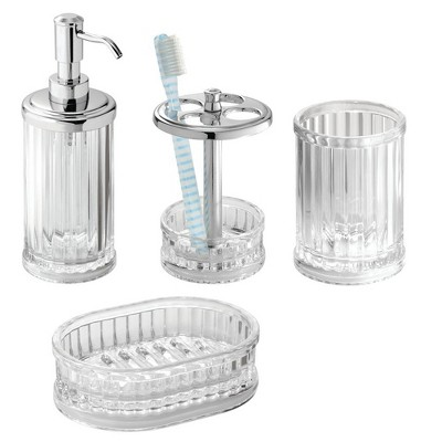 Alston Bath Accessory Set - Clear - InterDesign