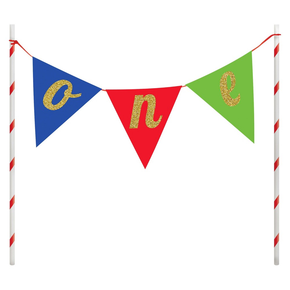 Image of 1st Birthday Cake Banner, cake toppers