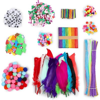 1750pcs Kids Art & Craft Supplies Assortment Set for School Projects, DIY Activities & Crafts and Party Supplies