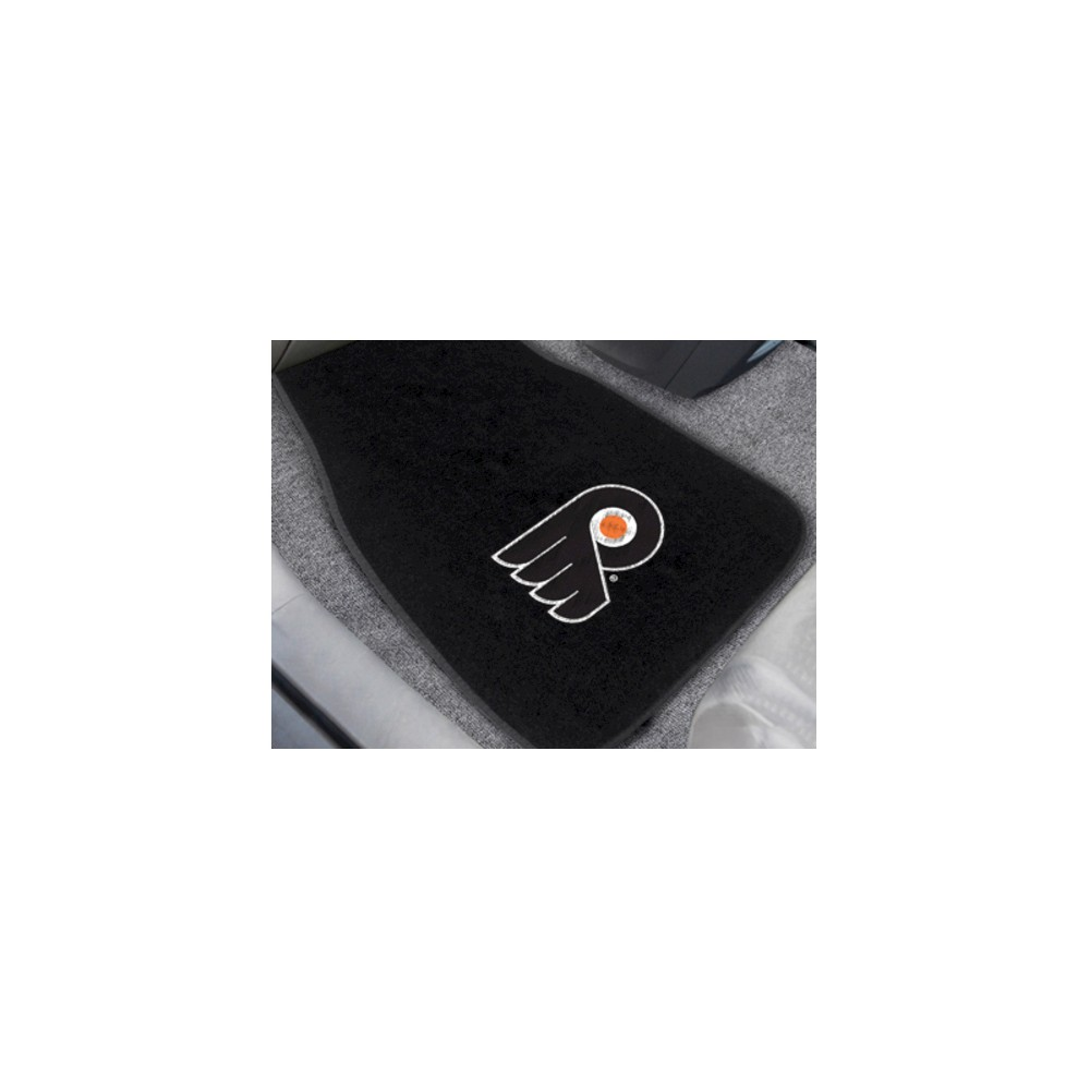 NHL Fan Mats 2-pc Embroidered Car Mat Set - Philadelphia Flyers