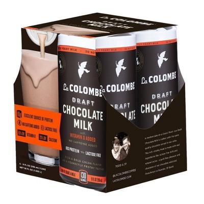 La Colombe Draft Chocolate Milk - 4pk/9 fl oz Cans