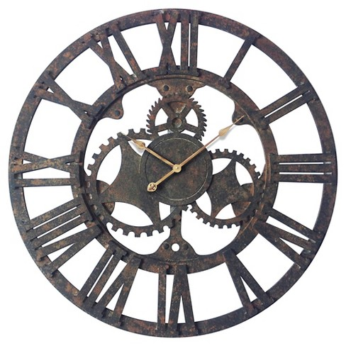 Rusted Gear Wall Clock Black - Infinity Instruments® - image 1 of 3