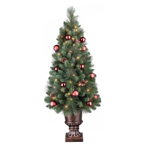 4ft prelit slim artificial christmas tree potted decorated pine clear lights wondershop