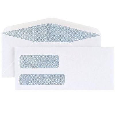 MyOfficeInnovations #10 Envelope Double Window Security-Tint Gummed Envelopes 500/Box 892095