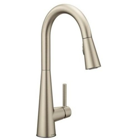Moen 7864 Sleek 1.5 GPM Single Hole Pull Down Kitchen Faucet with Reflex -  Spot Resist Stainless