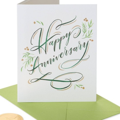 Elegant Happy Anniversary Card - PAPYRUS - image 1 of 4