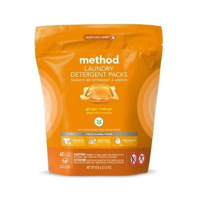 Method Ginger Mango Laundry Detegerent Packs - 42ct