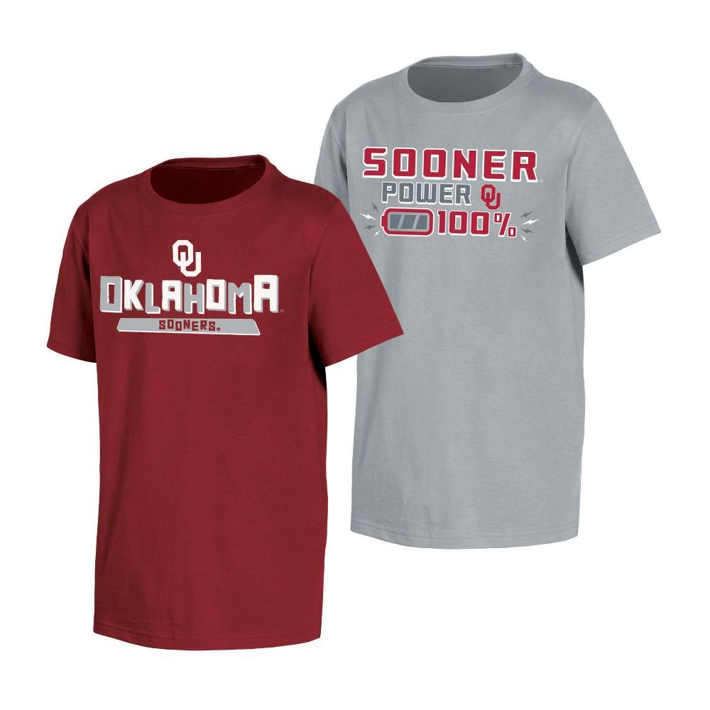 NCAA Toddler Boys' 2pk T-Shirt Oklahoma Sooners - 3T, Multicolored