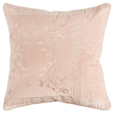 "20""x20"" Oversize Poly Filled Solid Square Throw Pillow Cover Blush - Rizzy Home"