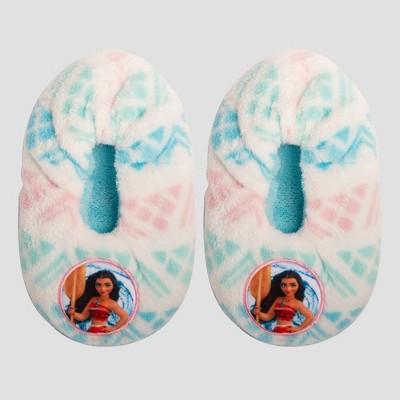 Toddler Girls' Disney Moana Slipper Socks - White 2T-3T