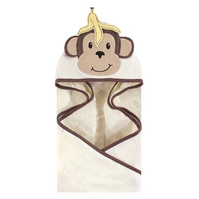 Hudson Baby Infant Cotton Animal Face Hooded Towel