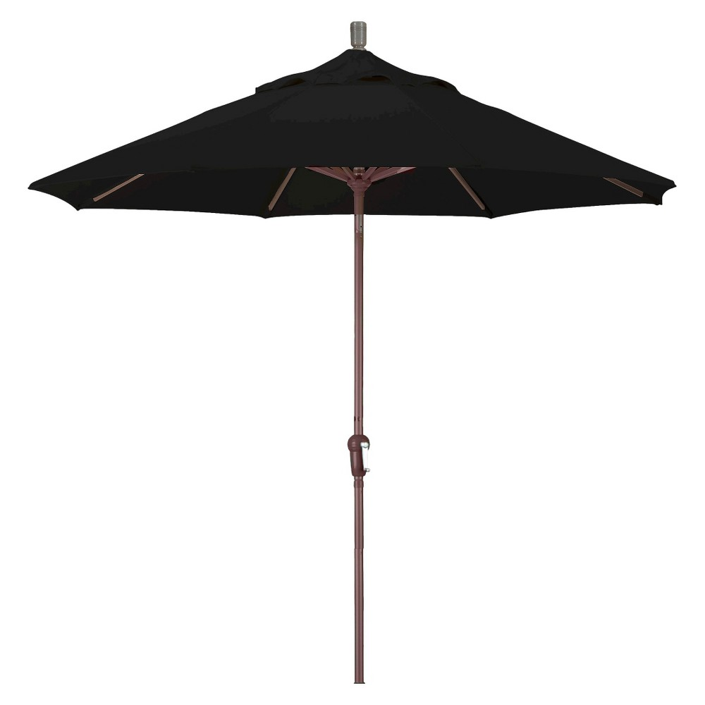 9' Aluminum Auto Tilt Crank Patio Umbrella - Black Pacifica