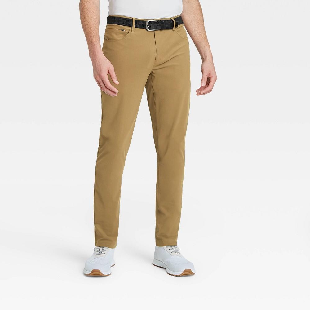 Men 39 S Golf Slim Pants All In Motion 8482 Olive Green 38x30