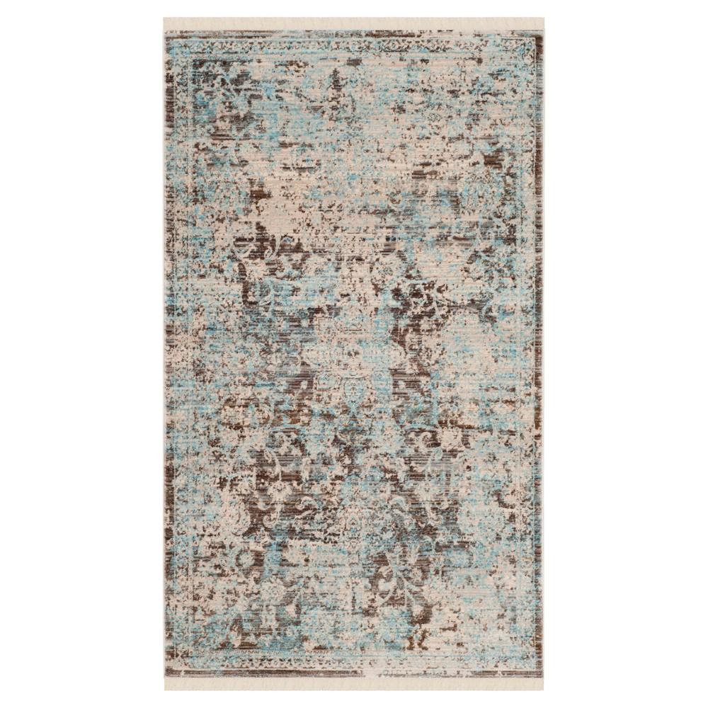 Vintage Persian Rug - Brown/Light Blue - (3'X5') - Safavieh