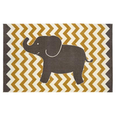 Mohawk Lucky Elephant Area Rug - Yellow (5'x8')