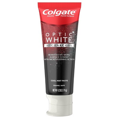 Colgate Optic White with Charcoal Whitening Toothpaste - Cool Mint Paste - 4.2oz