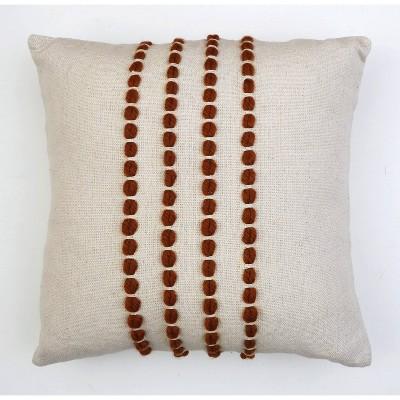 "20""x20"" Oversize Wanda Yarn Stitch Woven Cotton Square Throw Pillow Burnt Orange - Décor Therapy"